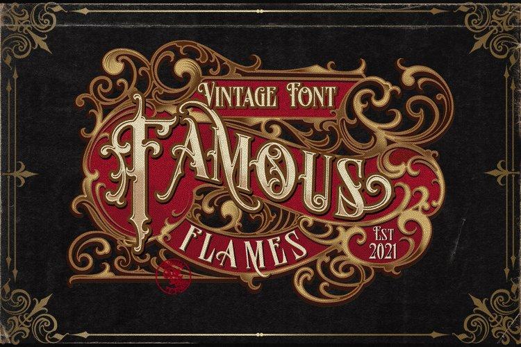 Famous flames vintage font example image 1