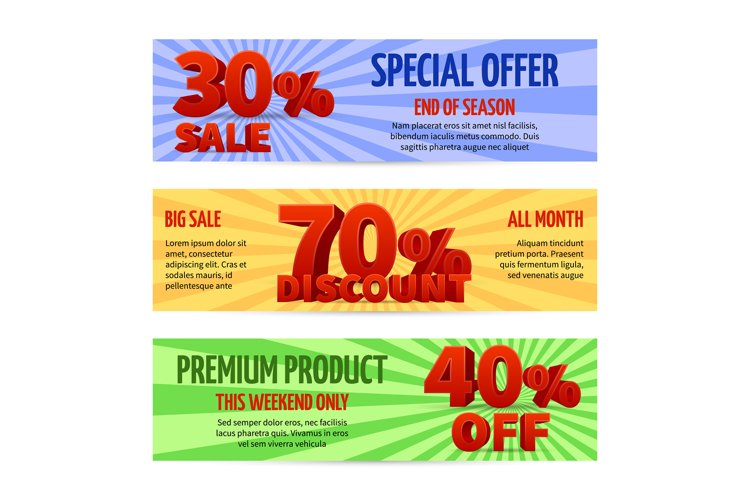 Discount voucher, sale coupon label designs. Special offer b example image 1