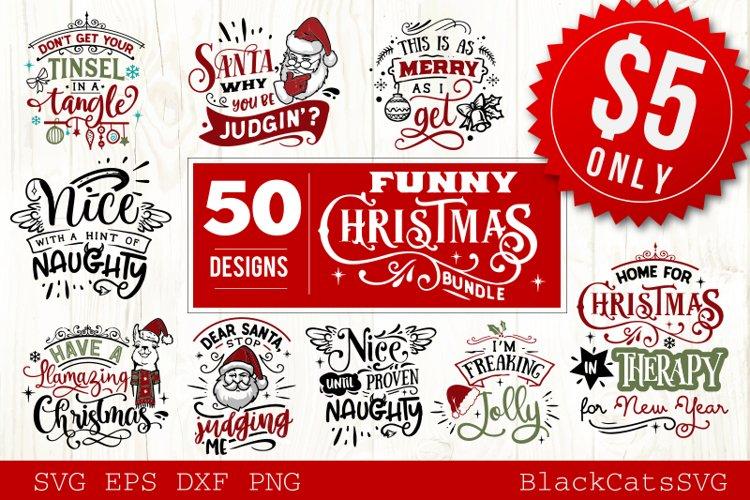 Funny Christmas SVG Bundle 50 designs example image 1