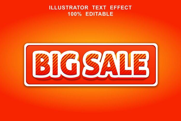 big sale text effect editable vector example image 1