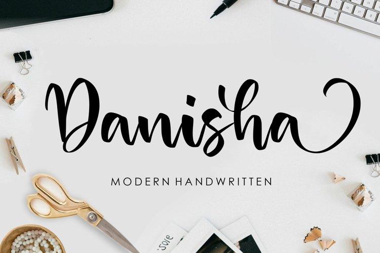 Danisha Modern Handwritten Font example image 1