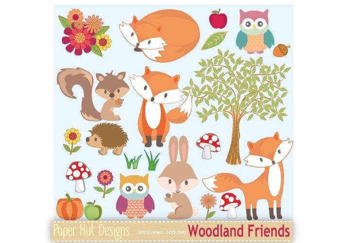 Woodland Animals Clipart example image 1
