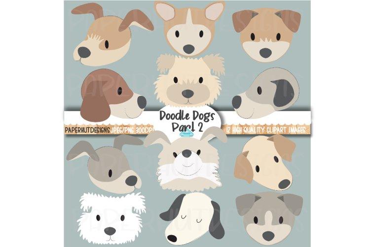 Doodle Dog Faces Clipart Dog Face Illustrations