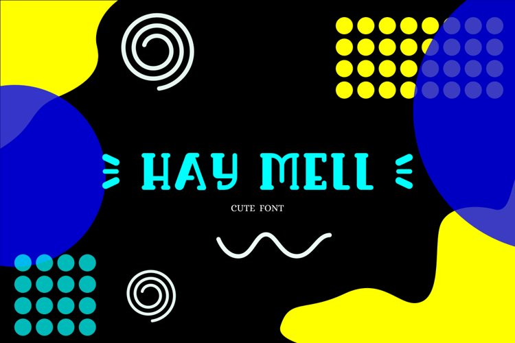 Haymell funny font example image 1
