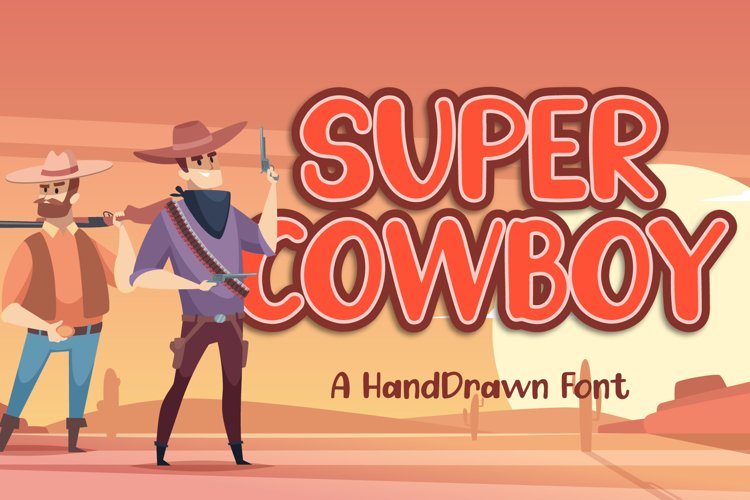 Super Cowboy - Bouncy Handwritten Font example image 1