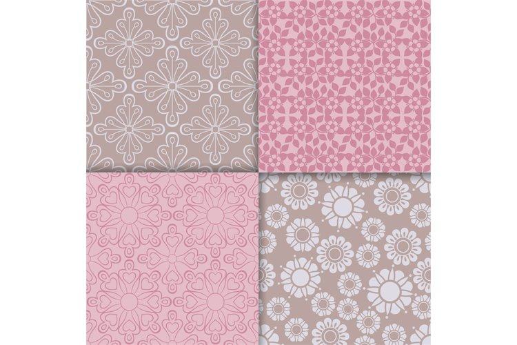 Romantic style pink pattern set example image 1