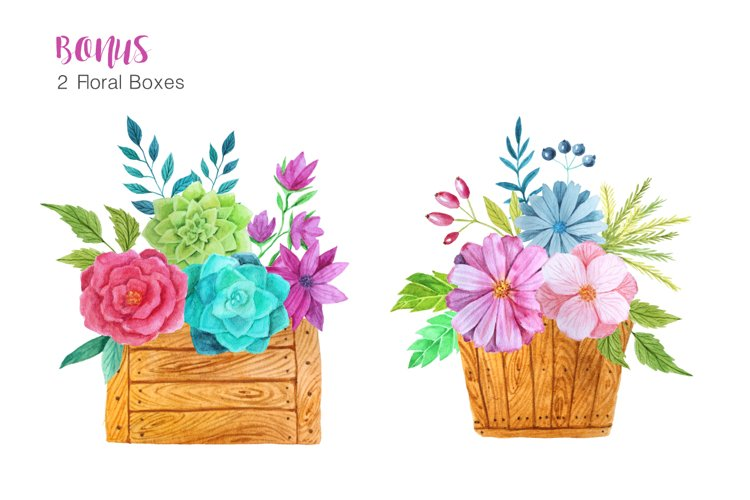 Watercolor Flower Pack example 3