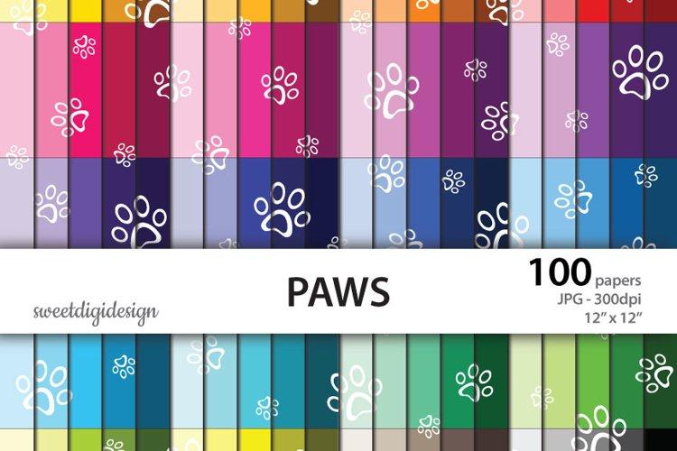 White paws seamless pattern example image 1