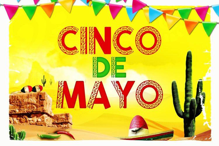 Cinco De Mayo Mexican Font example image 1