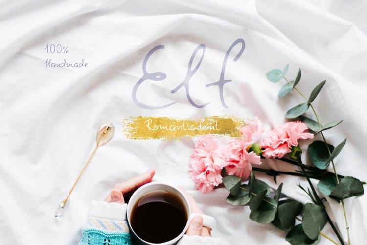 Elf—handwritten font example image 1