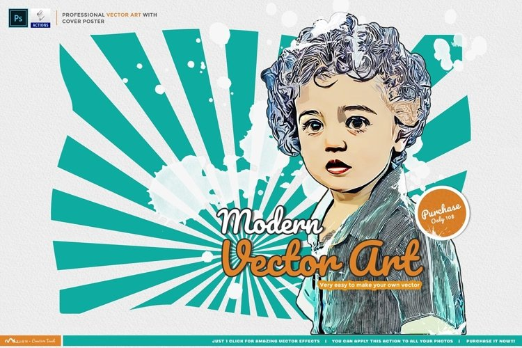 Modern Vector Art - Photoshop Action example image 1