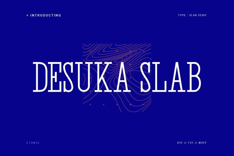 Desuka Slab Font example image 1