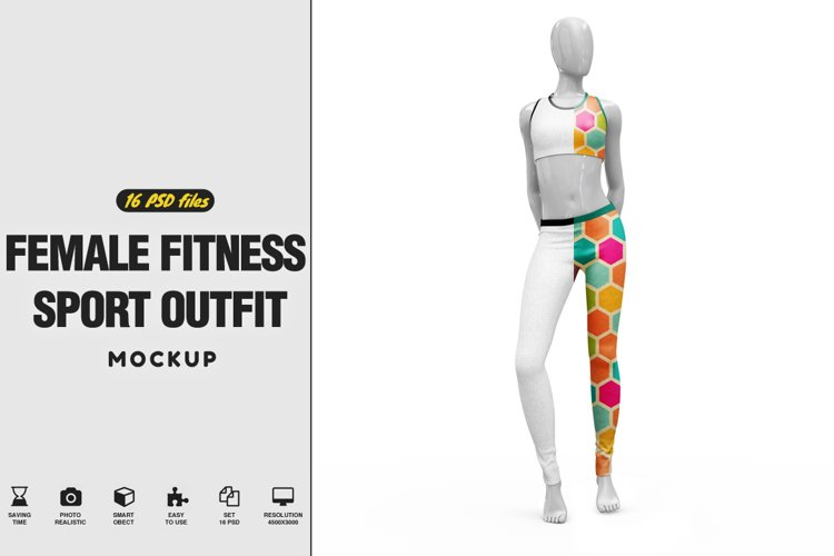 Female Sport Outfit Vol.3 Mockup example image 1