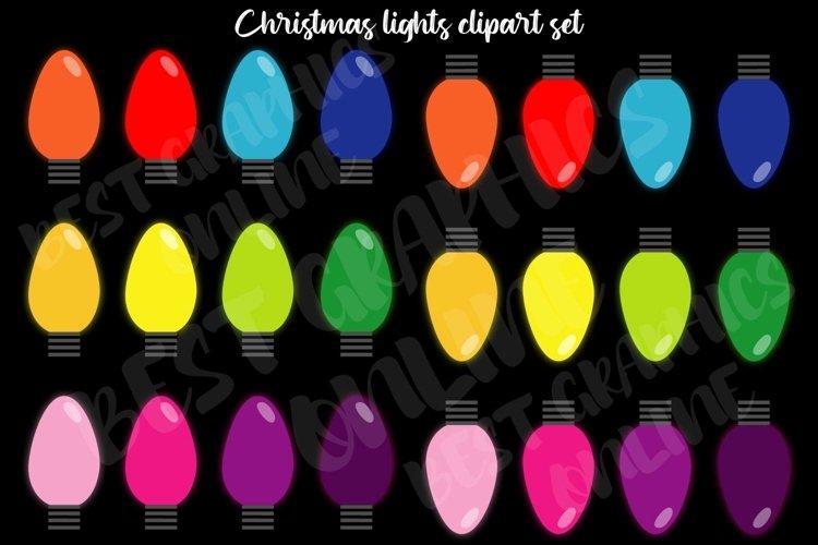 Christmas lights clipart Holiday Xmas tree lights clip art