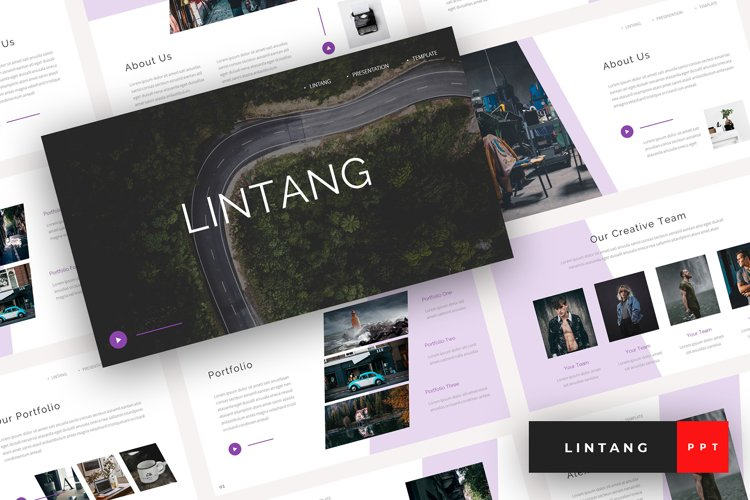 Lintang - Creative PowerPoint Template example image 1