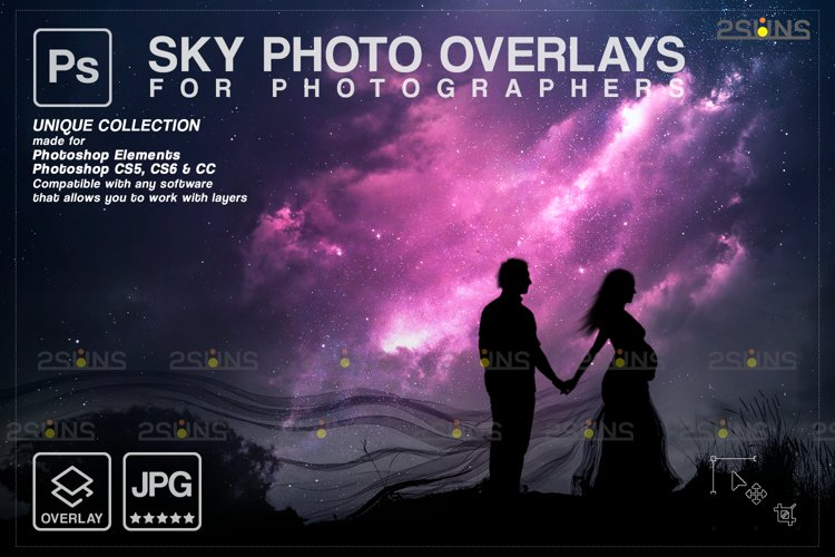 Night Sky Overlays, Pastel sky, sky overlay textures