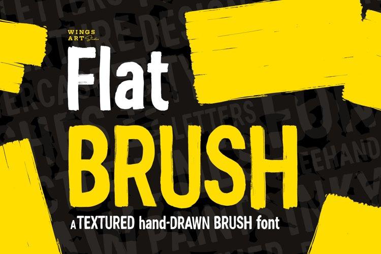 Flat Brush Font example image 1
