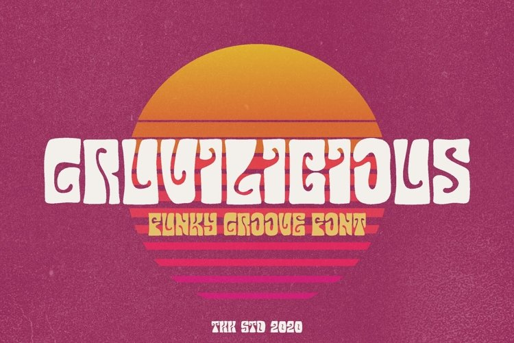 Gruvilicious - Retro Groovy Font example image 1
