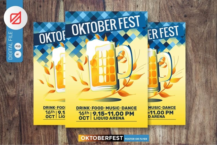 Oktoberfest Beer Party Poster or Flyer example image 1