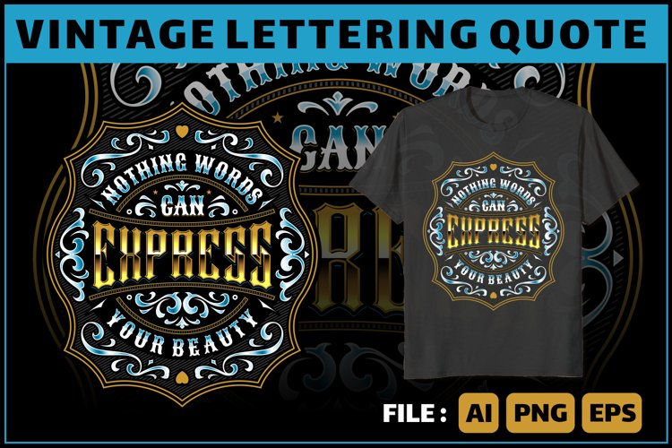 lettering quote for tshirt and more example image 1