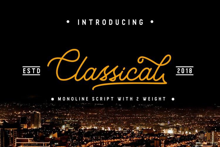 Classical / Monoline Script