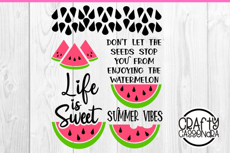 Watermelon svg - summer time summer vibes - inspirational example image 1