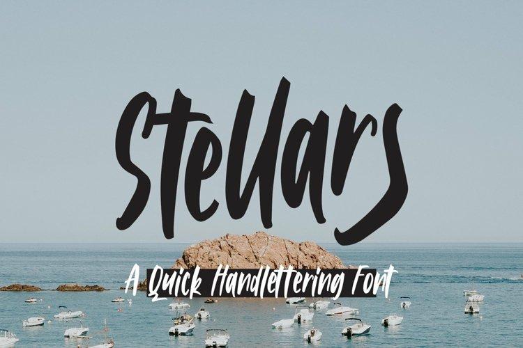 Web Font Stellars - Handlettering Font example image 1