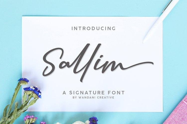 Sallim | Signature Font example image 1