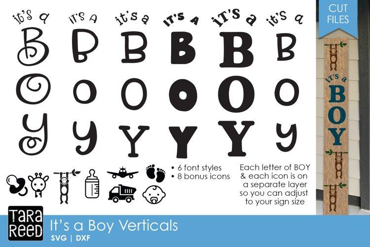 It's a Boy Vertical Sign Bundle example image 1