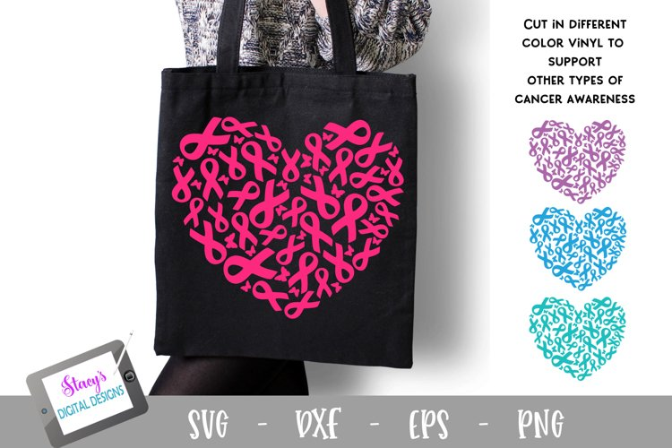 Breast Cancer Awareness SVG - Breast Cancer Ribbons - Heart
