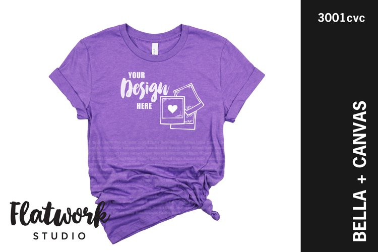 Team Purple Bella Canvas 3001 Mockup| No Props Mockup