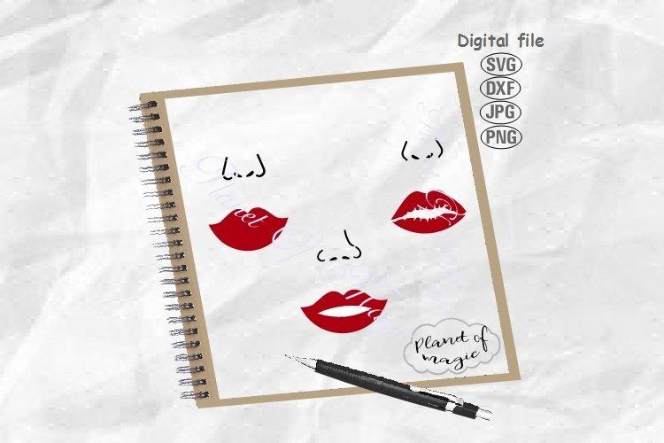 Face Mask Design Svg, Lips Svg, Face Svg, Mouth Svg,Nose Svg