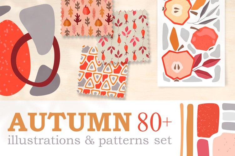 Autumn 80 illustrations set