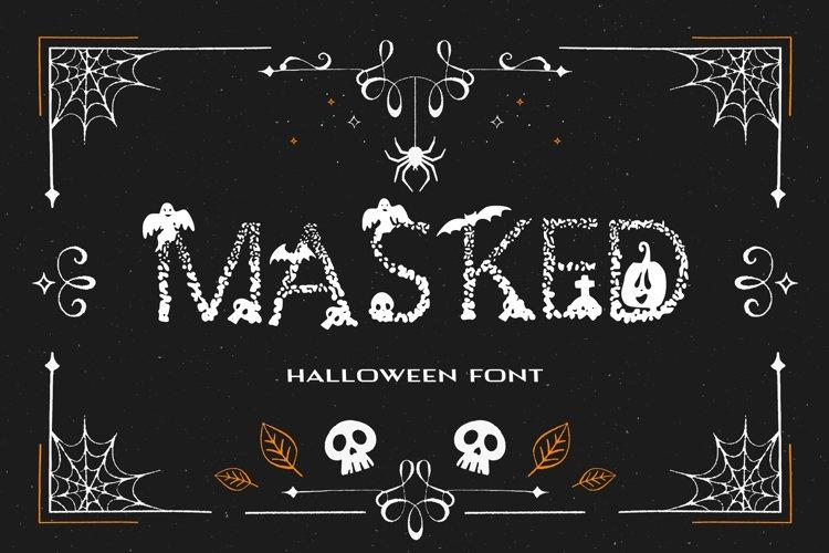 Masked Halloween Font example image 1