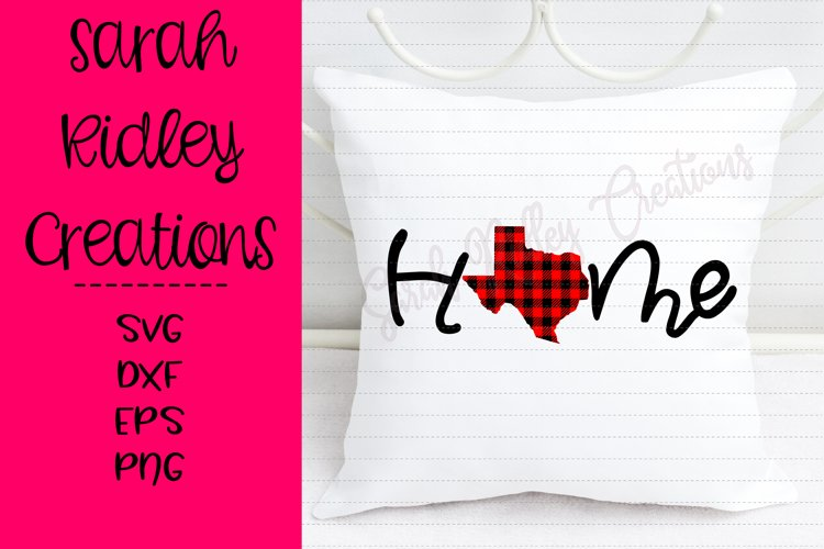 State of Texas Buffalo Plaid Home example image 1