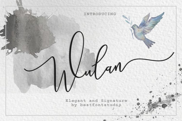 Wulan Script 4 style example image 1
