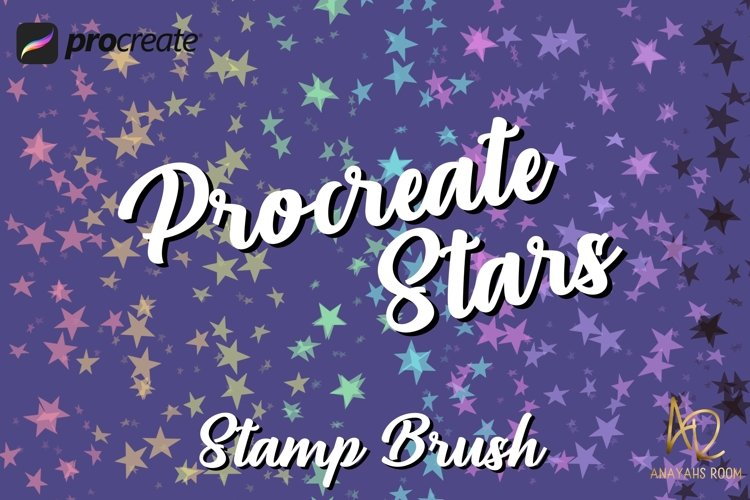 Procreate Star Brush Stamp | Black and white and Color example