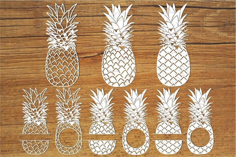 Pineapples SVG files for Silhouette Cameo and Cricut. example image 1