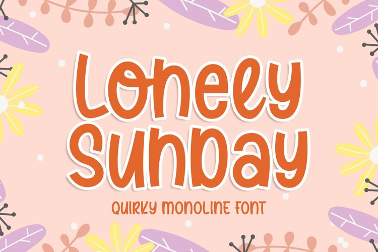 Lonely Sunday - Quirky Monoline Font example image 1