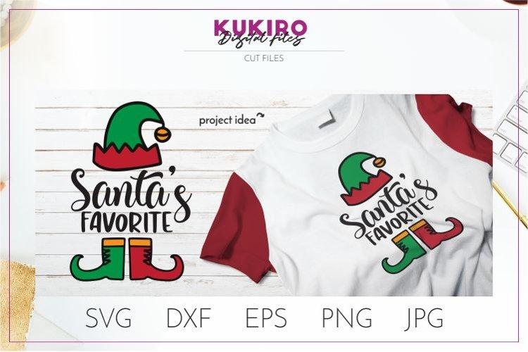 Elf SVG Santas favorite SVG - Kids Christmas SVG Cut file