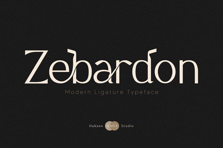 Zebardon Modern Ligature Typeface
