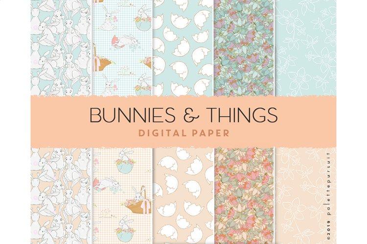 Easter digital paper, seamless Easter patterns, Spring art