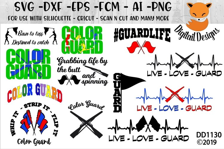 Color Guard 12 SVG Bundle