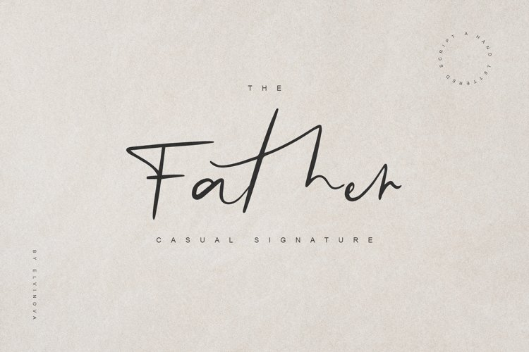 Father Casual Script Font example image 1