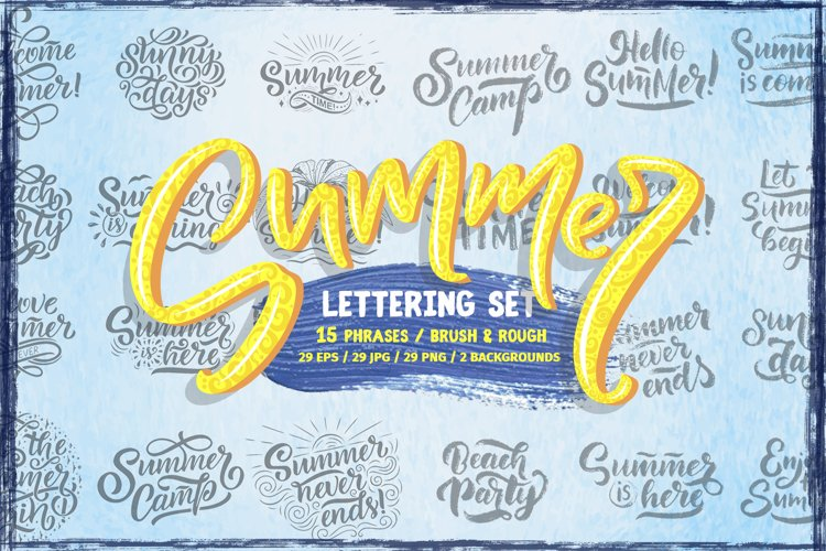 Summer Lettering Set example image 1