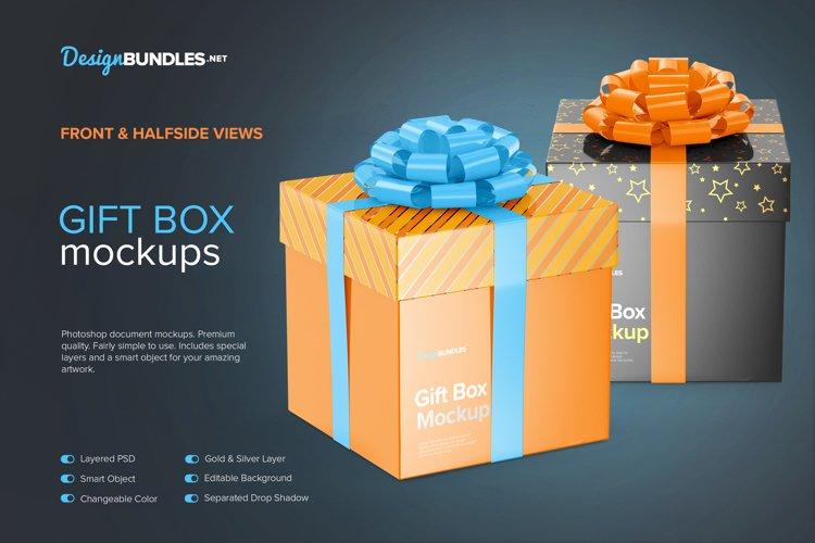Gift Box Mockups example