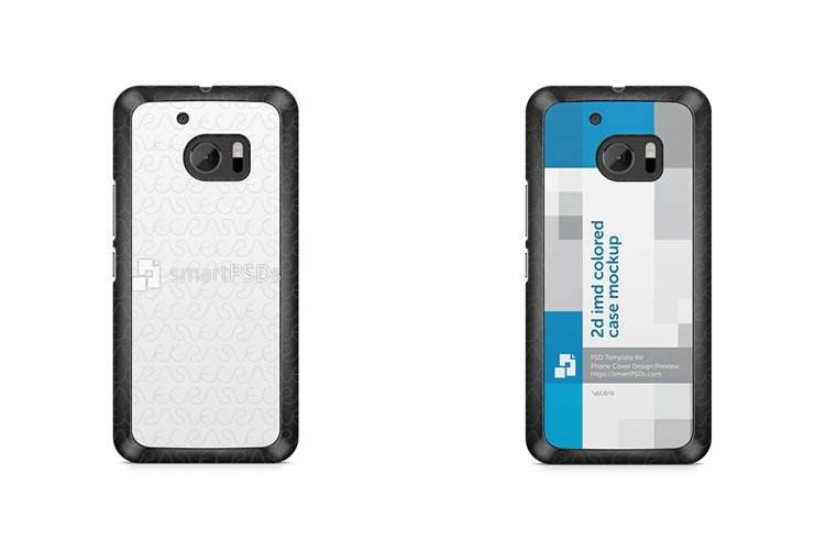 HTC M10 2d IMD Colored Mobile Case Mockup 2016 example image 1