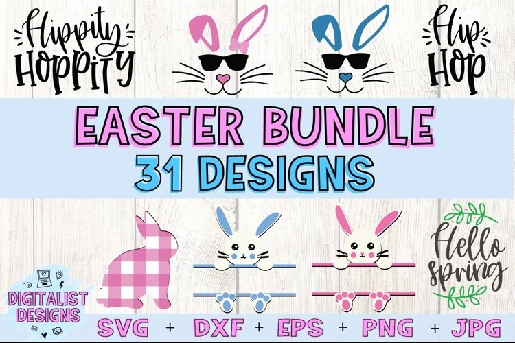 Easter Bundle SVG | Easter SVG | Easter Bunny example image 1