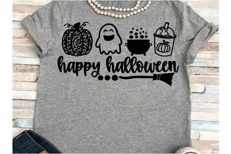 Pumpkin svg JPEG Silhouette Cameo Cricut halloween leopard example image 1