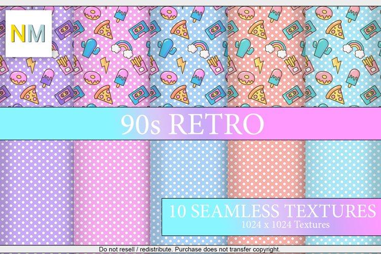 90s Retro 10 Seamless Matching Pastel Fabric Textures